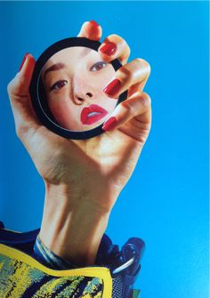 """Devon Aoki in Kenzine by Maurizio Cattelan and Pierpaolo Ferrari for Kenzo SS """"Kenzine is a collaboration between Toiletpaper Magazine an… Mirror Photography, Creative Photography, Editorial Photography, Portrait Photography, Fashion Photography, Reflection Photography, Portrait Shots, Photography Ideas, Glamour Photography"""