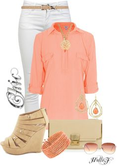 """CORAL Comfy * Contest Entry"" by hrfost1210 on Polyvore"