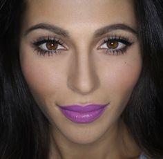 purple lipstick - love it!