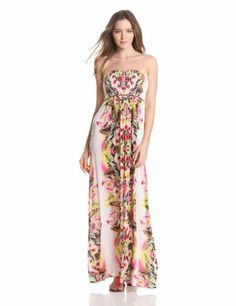 Velvet Womens Oahu Maxi Dress With Belt, Multi, Small.  check discount today! click picture on top