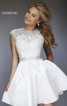 Sherri Hill dresses are designer gowns for television and film stars. Find out why her prom dresses and couture dresses are the choice of young Hollywood. Semi Dresses, Grad Dresses Short, Hoco Dresses, Dance Dresses, Pretty Dresses, Beautiful Dresses, Evening Dresses, Bridesmaid Dresses, Freshman Homecoming Dresses