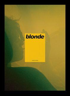 Frank Ocean - Blonde  Michel Egger Graphic Design for Frank Ocean, Photo: Frank Ocean