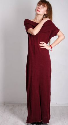 This tremendous crochet dress,maxi marsala knitted dress is made of alpaca wool  yarn. The mittens -sleeves of this crochet maxi bordeaux dress are very refined  and helps you to look  mod  Also you c