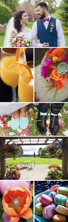 Do love lots of colors? Here are some ideas on how to make multiple colors work beautifully to make your wedding everything you imagined. Combine elegant colors with an outdoor and waterfront wedding at Kiana Lodge. Seattle Wedding Venues, Waterfront Wedding, Outdoor Wedding Venues, Lush Garden, Natural Wonders, Wedding Colors, Real Weddings, Backdrops, Destination Wedding