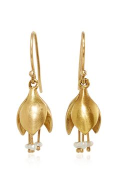Allium Bud Earring With Seed Pearls by ANNETTE FERDINANDSEN for Preorder on Moda Operandi