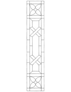 Stained glass pattern for sidelight