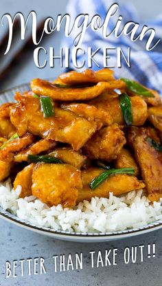 This Mongolian chicken is crispy slices of chicken breast stir fried in a sweet and savory sauce. Best Chicken Recipes, Turkey Recipes, Meat Recipes, Recipe Chicken, Cooking Recipes, Healthy Recipes, Casserole Recipes, Healthy Eats, Cake Recipes