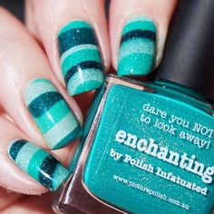 Nails Glitter Green Turquoise 29 New Ideas Get Nails, Love Nails, How To Do Nails, Fabulous Nails, Gorgeous Nails, Pretty Nails, Colorful Nail Designs, Cool Nail Designs, Nail Art Cute
