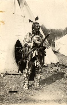 SIOUX Four Claws, 1906. Real Photo Postcard edited early 1900s.