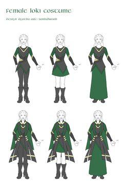 Female Loki costume by ~sandalwood01 on deviantART Something to look into :3