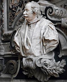 """Portrait of Giovan Camillo Cacace"" (1653) by Andrea Bolgi (Carrara 1605-Naples 1656) - San Lorenzo Maggiore Church in Naples | Flickr - Photo Sharing!"