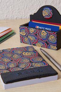Creative Company | Polimeerklei-projekte: Notaboek en besigheidskaarthouer