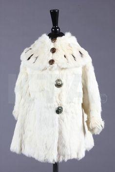 Girl's Coat, 1900, Made of ermine.