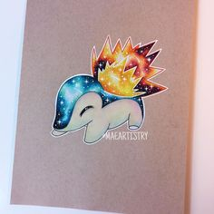 This Cosmic Cyndaquil was uploaded by francisco mora and I just fell in love with it from the start. Pokemon Tattoo, Pokemon Fan Art, All Pokemon, Pokemon Stuff, Cute Pokemon Pictures, Anime Kawaii, Catch Em All, Digimon, Cute Drawings