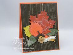 Card created with news products from Stampin'UP. Carte créée avec des nouveaux produits Stampin'UP du catalogue des fêtes.