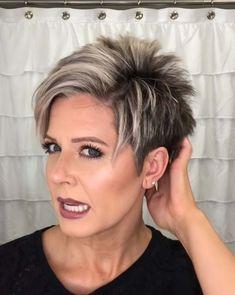 Short Hair Older Women, Short Choppy Hair, Short Hairstyles For Thick Hair, Haircut For Older Women, Short Hair Styles Easy, Short Hair With Layers, Short Hairstyles For Women, Color For Short Hair, Short Grey Hair