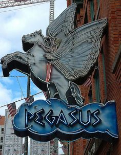 "Pegasus Restaurant, Greektown, Detroit, MI.  ""Hey lady, you're gonna miss the oopah!"""