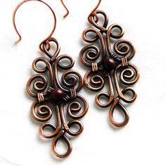 Wire Jewelry Purple Stones Mookaite Jasper Motif by KariLuJewelry, $24.50