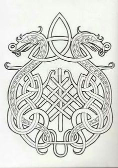 This is a cool idea. Id like a design with two phoenixes and a celtic knot like this