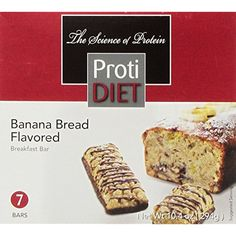 ProtiDiet Protein Bar - Banana Bread (7/Box) ** Click image for more details. (This is an affiliate link and I receive a commission for the sales)
