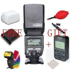 Yongnuo YN685 Wireless Flash Speedlite E-TTL 1/8000s + YN622C-TX LCD for Canon #Yongnuo