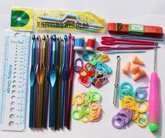 $14.95 Basic Sewing Knitting Tools Set Aluminum Crochet Hooks Needles Set Stitches knitting Needles Craft Weave Accessories With Case