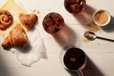 Cold Brew Coffee Recipe / Photo by Christopher Simpson, Prop and Food Styling by Ali Nardi Coffee Latte, Iced Coffee, Coffee Drinks, Coffee Break, Coffee Barista, Coffee Talk, Coffee Menu, Coffee Poster, Coffee Creamer