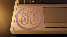 Monogram Decal Car Decal Circle by BridestoBabiesCustom on Etsy, $3.00