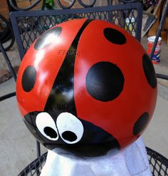 Phase 4 lady bug bowling ball project