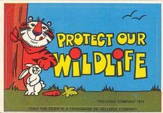Tony The Tiger Protect Our Wildlife Sticker