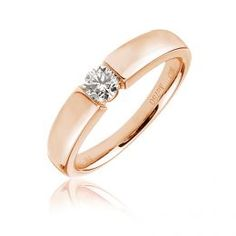 This solitaire engagement ring features a round brilliant cut diamond of your choice channel set in a striking Gold or platin Gold Band Engagement Rings, Pink Diamond Engagement Ring, Pink Diamond Ring, Engagement Ring Photos, Diamond Solitaire Rings, Pink Diamonds, Pretty Rings, Gold Bands, Deco