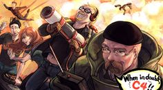 Mythbusters Fan Art (by ~arashicat) I can't tell you how much I love this. Hey look! It's Buster!