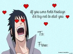 I feel like the Naruto Fandom needs some cheering up. Valentines Anime, Funny Valentines Cards, Funny Birthday Cards, Happy Valentines Day, Anime Naruto, Sasuke, Anime Pick Up Lines, Hisoka, Manga