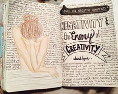 wreck this journal: space for negative comments