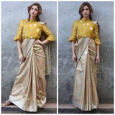 Silk Blouse Designs for your Saree Saree Wearing Styles, Saree Styles, Saree Jackets, Saree Gown, Modern Saree, Saree Blouse Neck Designs, Designer Blouse Patterns, Designer Dresses, Indian Gowns Dresses