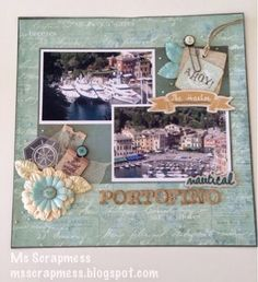 The Rubber Buggy: Scrapbook layout using Prima Seashore collection