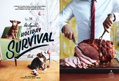 Typography Magazine, New York Times Magazine, Magazine Layout Design, Bon Appetit, Breakfast In Bed, Layout Inspiration, Editorial Design, Food For Thought, Survival