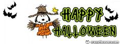 Snoopy Scarecrow Halloween Facebook Cover - Facebook Timeline Cover Photo - Fb Cover