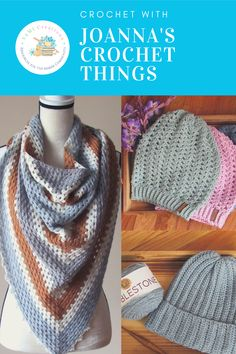 Looking to learn more about crochet? Or do you want more information about Joanna's Crochet Things beautiful patterns? Click through to find more about the lady behind this wonderful shop and her crochet patterns (like these two above)! Chunky Crochet, Crochet Shawl, Crochet Stitches, Crochet Hooks, Knit Crochet, Easy Crochet Patterns, Crochet Designs, Knitting Patterns, Knitting Projects