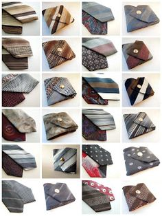 Coin purses from mens ties from Upcycle Your Life