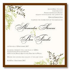 Autumn Leaves Wedding Invitation Template