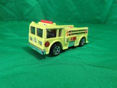 Hotwheels Fire Eater Fire Truck Yellow Die Cast 1:64  #HotWheels