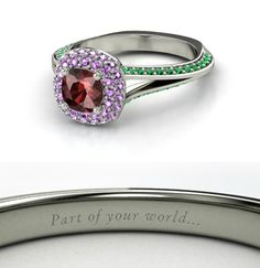 Ariel Inspired Disney Wedding Ring.