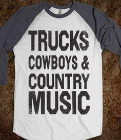 Trucks Cowboys Country Music (Baseball) - Shake it for Luke Bryan - Skreened T-shirts, Organic Shirts, Hoodies, Kids Tees, Baby One-Pieces and Tote Bags on Wanelo