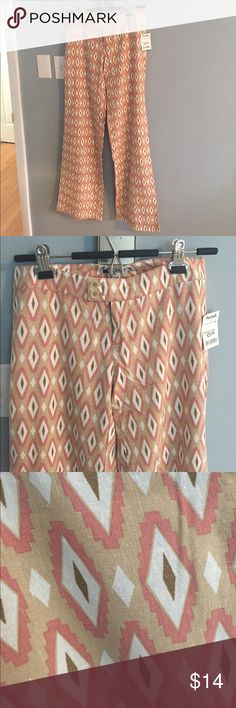 LAST CALL NWT Carol Little Ikat Linen Pants Sz 0 NWT Carol Little ikat pattern 55% linen, 45% viscose pants. Size 0 Carole Little Pants Trousers