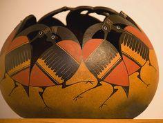 """Robert Rivera's gourd art--""""gourd-geous!"""""""
