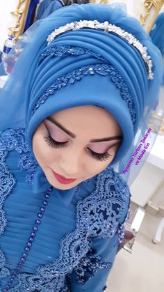 You can find different rumors about the history of the marriage dress; tesettür First Narration; Hijabi Wedding, Muslimah Wedding Dress, Muslim Wedding Dresses, Wedding Girl, Muslim Brides, Muslim Dress, Luxury Wedding Dress, Bridal Hijab, Hijab Bride