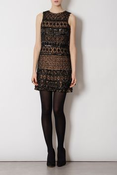 INTRICATE BEADED SHIFT DRESS