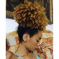 Natural hair styles- high puff