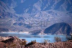 mendoza argentina: Atuel river in the Andes Mountains, Mendoza, Argentina Stock Photo